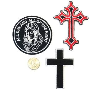 Accessories - Christian Cross Patches Iron On Mary Prayer DIY